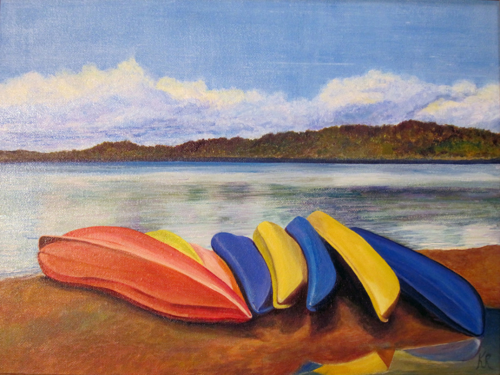 Kayaks at Lake Sammammish